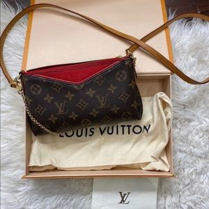 Authentic Louis Vuitton Pallas Clutch